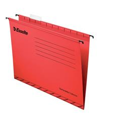 Esselte Classic Suspension File Reinforced Foolscap File Red Ref 90336 (Pack 25)