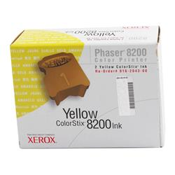 Xerox ColorStix Yellow (Yield 2,800 Pages) Solid Ink Sticks (Pack of 2) for Xerox Phaser 8200 Series