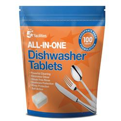 5 Star Facilities All-in-one Dishwasher Tablets [Pack 100]