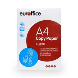 Euroffice A4 Paper Ream-Wrapped 80gsm White Ream - 500 Sheets