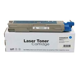 ALPA-CArtridge Remanufactured OKI C3520 Cyan Toner 43459323