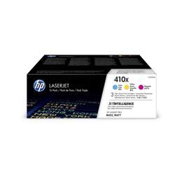 HP 410X Laser Toner Cartridges HY Page Life 15000x3pp C/M/Y Ref CF252XM [Pack 3]