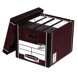 Bankers Box Premium Storage Box Tall FSC Woodgrain [Pack 12] [12 for the price of 10] Ref 7260502 - FREE 'Plant a Tree Donation'