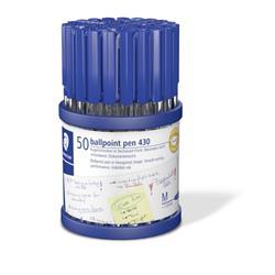 Staedtler Stick 430 Ballpoint Pen Medium 1.0 Ball 0.35 Line Blue Ref 430M3CP50TH