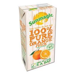 Sunmagic Pure Orange Juice Drink Tetra Pak Slim 1 Litre Ref 471011 [Pack 12]