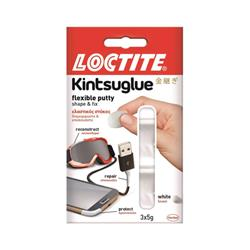 Loctite Kinsuglue Waterproof Flexible Putty to Repair Objects 3x5g White Ref 2239177