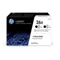 Hewlett Packard [HP] 26X Laser Toner Cartridges High Yield Page Life 9000x2pp Black Ref CF226XD [Pack 2]