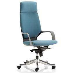 Adroit Executive Chair Static Arms Flat Packed Fabric Blue Ref KC0215