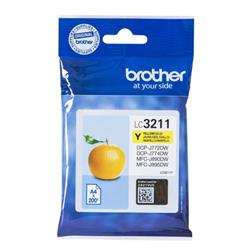 Brother LC3211Y Inkjet Cartridge Page Life 200pp Yellow Ref LC3211Y