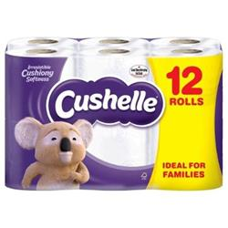 Cushelle Toilet Rolls 2-Ply 180 Sheets White Ref 1102089 Pack 12