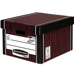 Bankers Box Premium Storage Box Classic FSC Woodgrain [Pack 12] [12 for the price of 10] Ref7250503 - FREE 'Plant a Tree Donation'