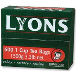 Lyons Green Label Tea Bags 1 Cup Ref lyontea600 [Pack 600]