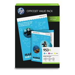 HP 953XL Inkjet Cartridges Page Life 1600x3pp Cyan/Magenta/Yellow 1CC21AE [Pack 3]