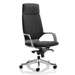 Adroit Executive Chair Static Arms Flat Packed Fabric Black Ref KC0214