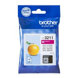Brother LC3211M Inkjet Cartridge Page Life 200pp Magenta Ref LC3211M