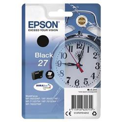 Epson 27 Ink Cartridge 3.6ml Page Life 350pp Black Ref C13T27014013