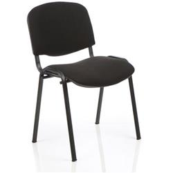 Club Stacking Chair Black Fabric Black Frame Without Arms Ref CH0500BK