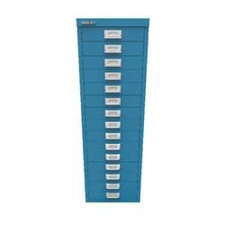 Bisley 39 15 Non-Lock Multidrawer Azure Blue Ref BY78741