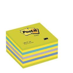 Cubo Post-it® Neon - 76x76 mm - giallo, viola, verde, blu