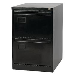 Toccata Black 2 Drawer Filing Cabinet - AOC2-AV1