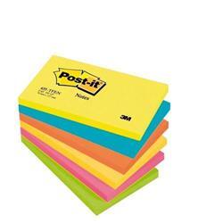 Foglietti Post-it® Notes Energy - 76x127 mm - neon arcobaleno - conf. 6