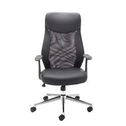 Jemini Mesh High Back Operator Black Chair Ref CH2404BK