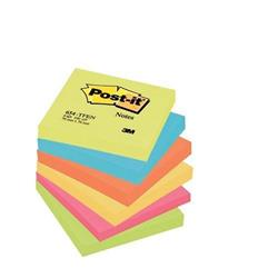 Foglietti Post-it® Notes Energy - 76x76 mm - neon arcobaleno - conf. 6