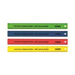 ReCreate Shatter Resistant Ruler 30cm Assorted (100 Pack) RCSPR30A