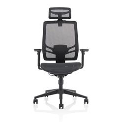 Ergo Twist Black Mesh Seat Mesh Back with Headrest Ref KC0299