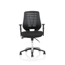 Relay Task Operator Chair Airmesh Seat Black Back With Height Adjustable Arms Ref KC0285