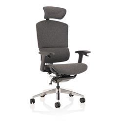 Ergo Click Plus Grey Fabrimesh with Headrest Ref EOCLK+GRY