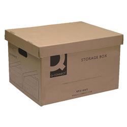 Q-Connect Brown Storage Box 335x400x250mm (Pk 10) Ref KF21665
