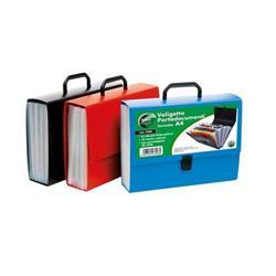 Portadocumenti 25 Tasche Lebez - Blu,Nero,Rosso - 25 - 2580