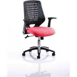 Relay Task Operator Chair Bespoke Colour Black Back Bergamot Cherry Ref KCUP0505