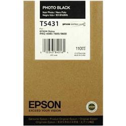 Epson T5431 Ink Cartridge - 110ml (Photo Black) for Epson Stylus Photo 7600