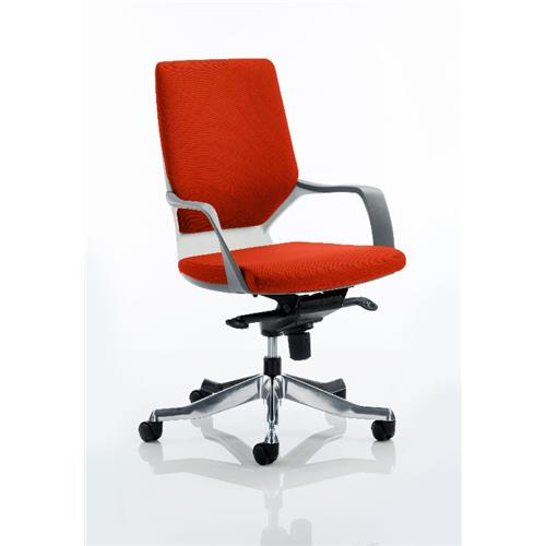 Incredible Xenon Executive Chair White Medium Coral Back Pimento Colour Evergreenethics Interior Chair Design Evergreenethicsorg