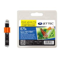 Jet Tec Epson Compatible T0711/T0891 (7.4ml) Remanufactured Inkjet Cartridge