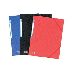 Elba Eurofolio Folder Elasticated 3-Flap 450gsm A4 Assorted Ref 100200976 [Pack 10]