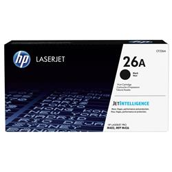 HP 26A (Yield 3,100 Pages) Black Original Toner Cartridge for LaserJet Pro M402d/M402dn/M402n/M426dw/M426fdn/M426fdw Printers