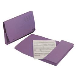 Elba Document Wallet Full Flap 260gsm Capacity 32mm Foolscap Mauve Ref 100090253 [Pack 50]