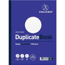 Challenge Duplicate Book Carbonless Ruled 100 Sets 248x187mm Ref 100080411 - Pack 3