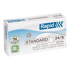 Punti per cucitrici universali Rapid - 24/6 - conf. 1000