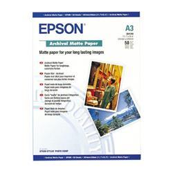 Epson Archival Matte Paper 192gsm A3 Ref C13S041344 [Pack 50]