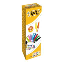 Penna a sfera Cristal® Bic - Medium Classic - 1mm - Assortito - 926381  - conf.20
