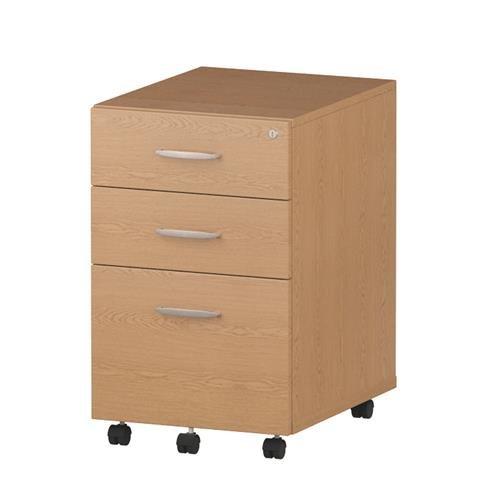 best loved 5823e d6f20 Impulse Under Desk Pedestal 3 Drawer Oak Ref I001660