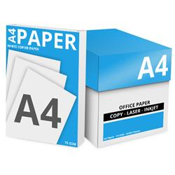 White Box Value Copier Paper Ream-Wrapped A4 75gsm White [5 x 500 Sheets]