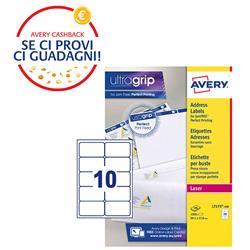 Etichette adesive Avery - per indirizzi - BlockOut™ - 99,1x57 mm - 10 etichette/ff - 100 fogli