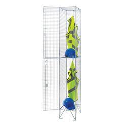 Two door Bright Steel Wire Locker