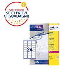 Etichette adesive Avery - per indirizzi - QuickPEEL - 63,5x33,9 mm - 24 etichette/ff - 100 fogli