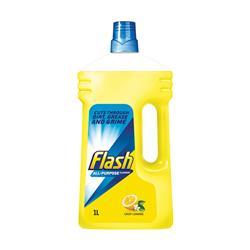 Flash All Purpose Cleaner for Washable Surfaces 1 Litre Lemon Fragrance Ref 1014073
